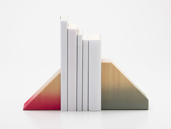 Range Bookends Pink Grey
