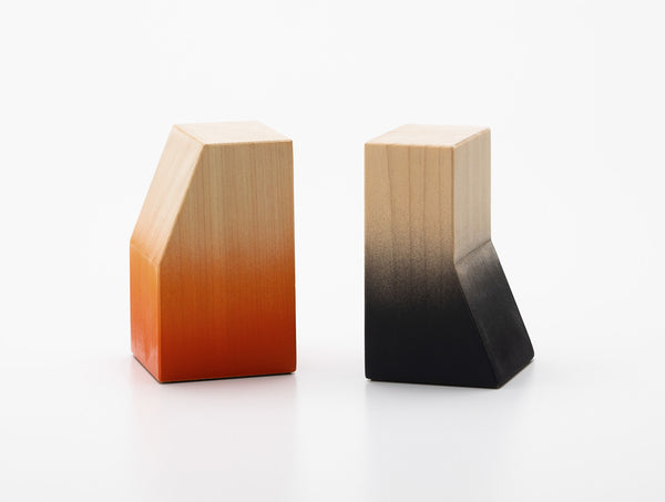 Range Bookends Orange Black