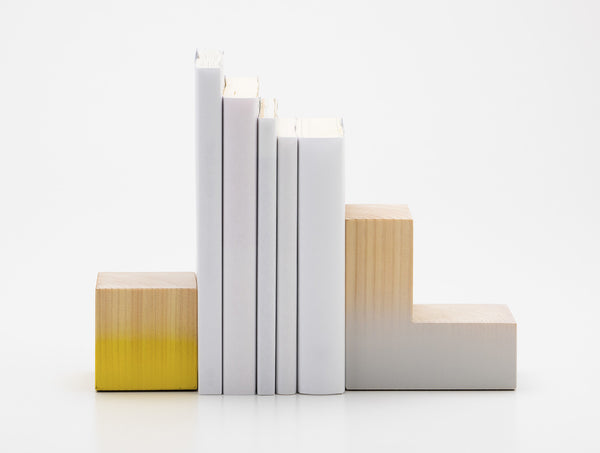 Range Bookends Yellow White