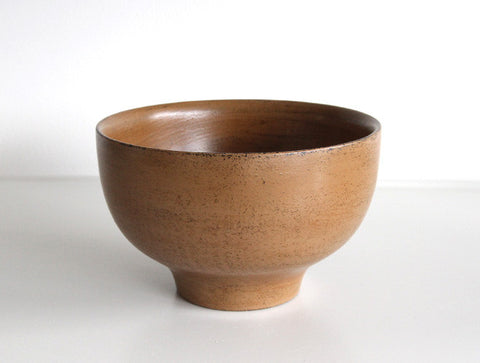 Beige Soup Bowl by Mutsumi Goto