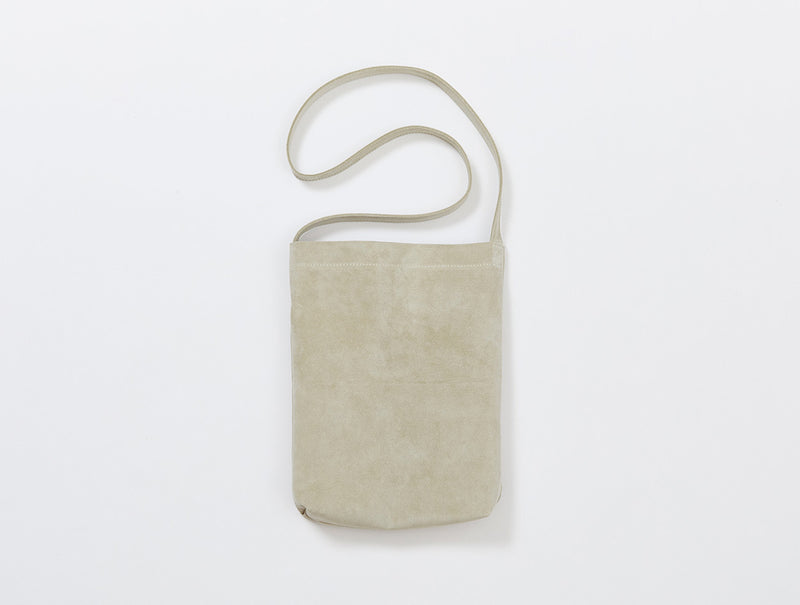 Beige Suede Shoulder Bag