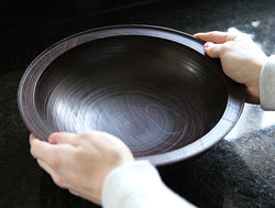 Large Lacquer Zelkova Bowl