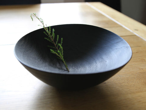 Rubbed Lacquer Bowl by Mutsumi Goto