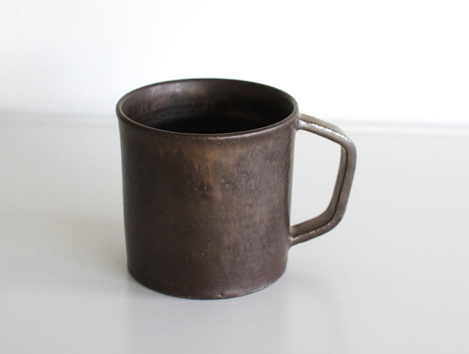 Black Angled Handle Mug by Kana Tozuka at OEN Shop
