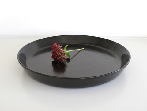 Large Black Coated Tray by Akihiko Sugita