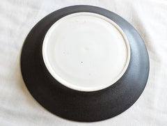 Black Large Rim Plate by Mark Robinson at OEN Shop