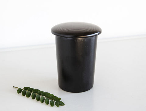 Lidded Lacquer Pot by Tomoaki Nakano