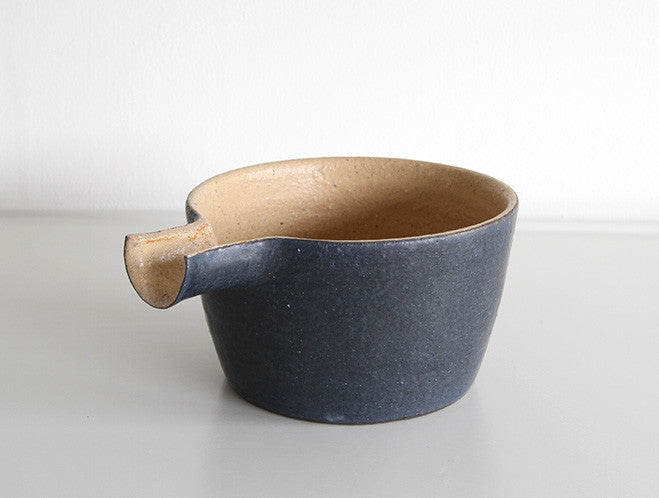 Two Tone Black Katakuchi by Inima Pottery at OEN Shop