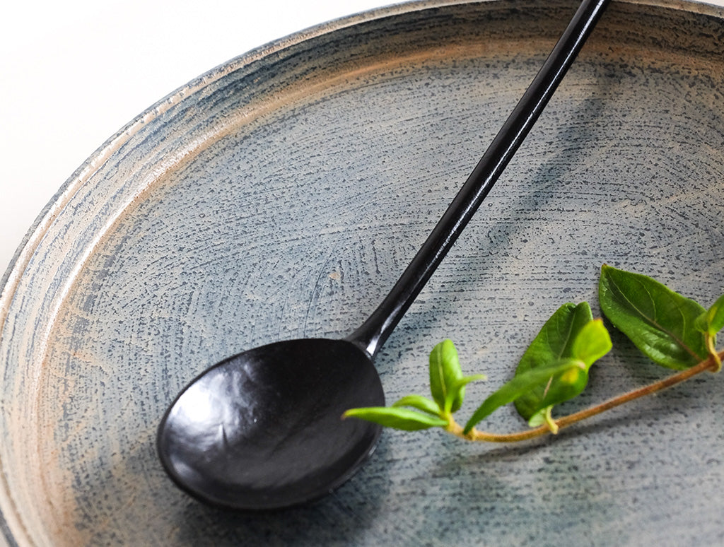 Spoon in Black Lacquer by Hiroyuki Sugawara at OEN Shop