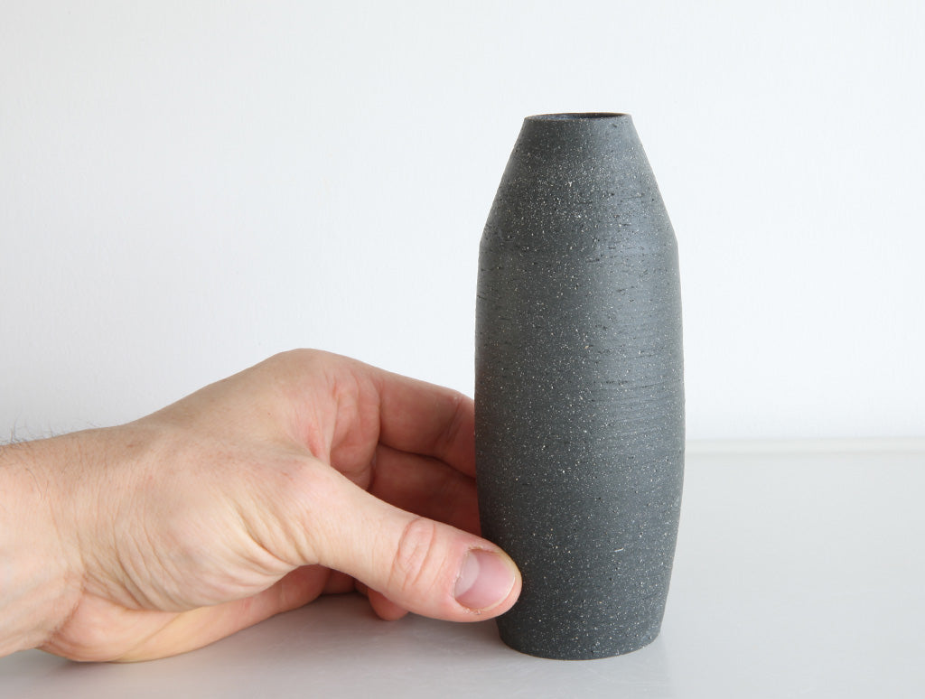 Black Stone Bud Vase by Mark Robinson at OEN Shop