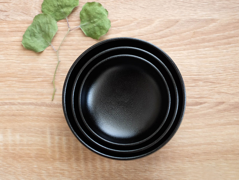Black Nested Urushi Bowls