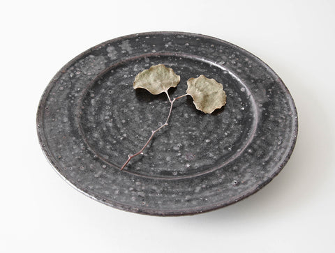 Black Rustic Plate by Shinko Nakanishi