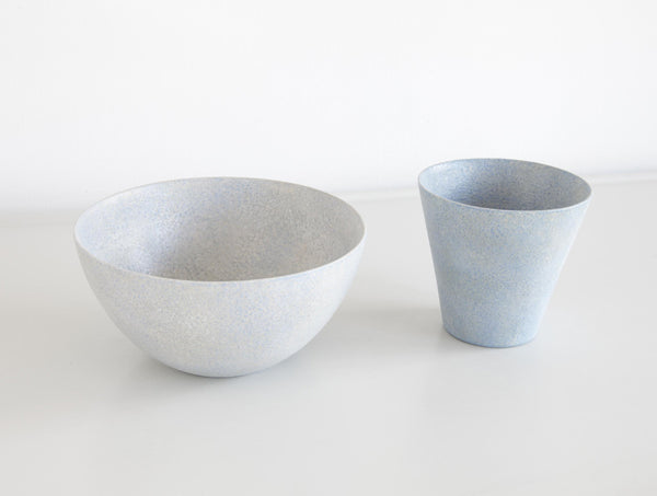 Grey Blue Kiji Round Bowl S