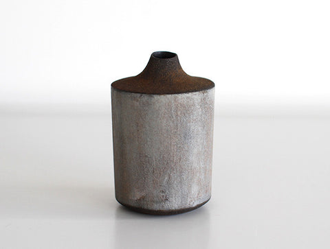 Blue Black Dry Lacquer Vase by Mie Yokouchi