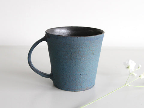 Matte Blue Mug by Takeshi Ohmura