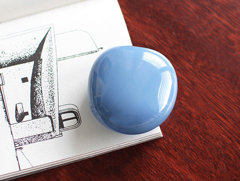 Blue Glass Paperweight by Studio Prepa