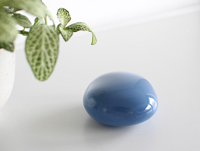 Blue Glass Paperweight by Studio Prepa at OEN Shop