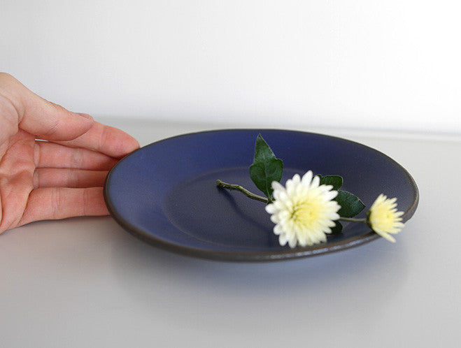 Deep Blue Plate by Yuichi Murakami at OEN Shop