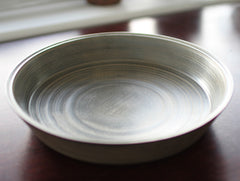 White Lacquer Chestnut Plate by Hiroyuki Sugawara at OEN Shop
