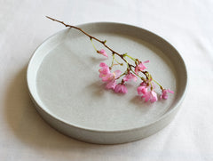 Flat Blue Cake Plate by Inima Pottery at OEN Shop