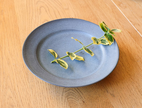 Small Blue Matte Plate by Mark Robinson