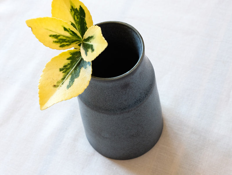 Grey Blue Bud Vase