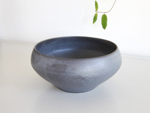 Medium Blue Matte Bowl by Mark Robinson