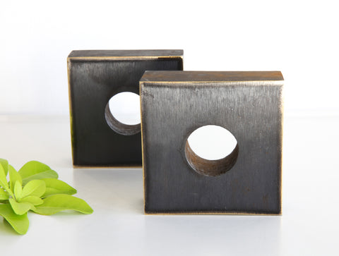 Square Brass Bookends by Carl Auböck
