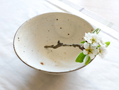 Spotted White Bowl by Shinko Nakanishi at OEN Shop