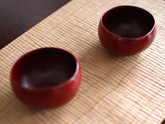 Dry Lacquer Red Bowl by Mie Yokouchi at OEN Shop