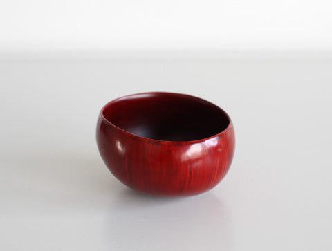 Dry Lacquer Red Bowl by Mie Yokouchi