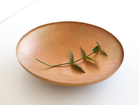 Shallow Brass Bowl by Naho Kamada