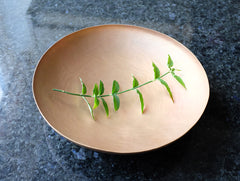 Shallow Brass Bowl by Naho Kamada at OEN Shop