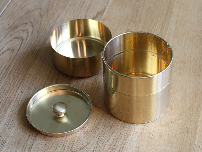 Round Brass Can