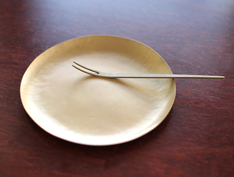 Thin Brass Dish by Naho Kamada
