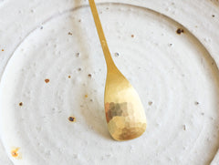 Brass Ice Cream Spoon by Rieko Fujimoto at OEN Shop