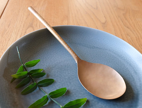 Brass Server Spoon by Naho Kamada