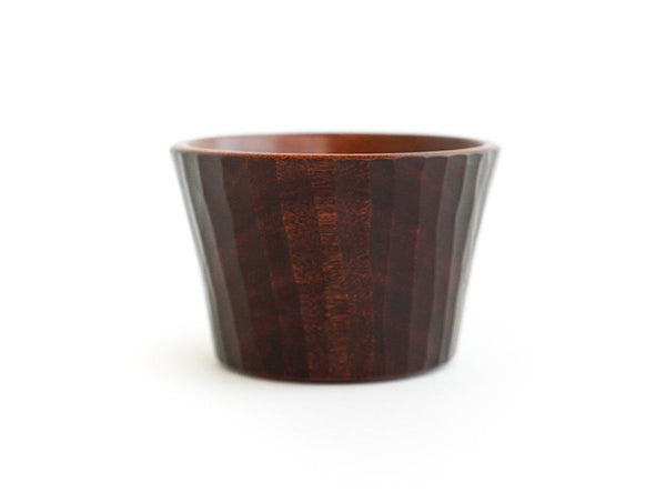 Carved Brown Lacquer Cup