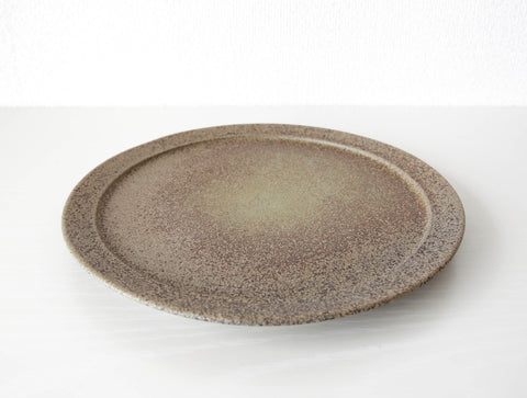 Brown Speckled Plate L