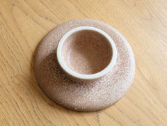Brown Textured Cake Stand by Mushimegane Books at OEN Shop