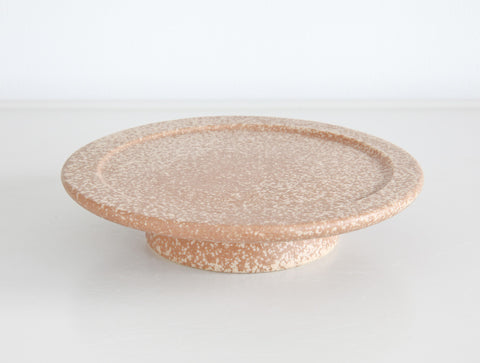 Brown Textured Cake Stand by Mushimegane Books