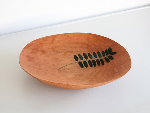 Curved Cherry Bowl by Toru Sugimura