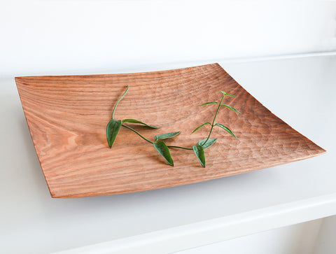 Carved Cherry Tray by Toru Sugimura