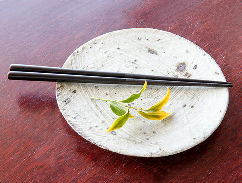 Toned Black Lacquer Chopsticks by Tomoaki Nakano