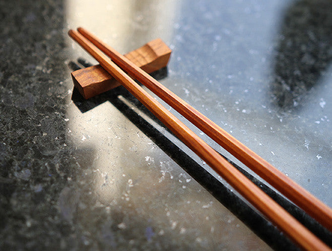 Teak Chopstick Rest by Eiji Hagiwara at OEN Shop