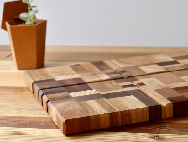 Cross Line Chopping Board