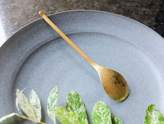 Brass Coffee Spoon by Rieko Fujimoto at OEN Shop