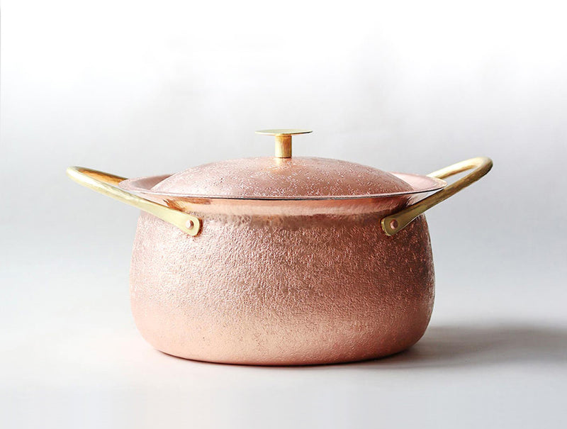 Copper Two Handled Pan