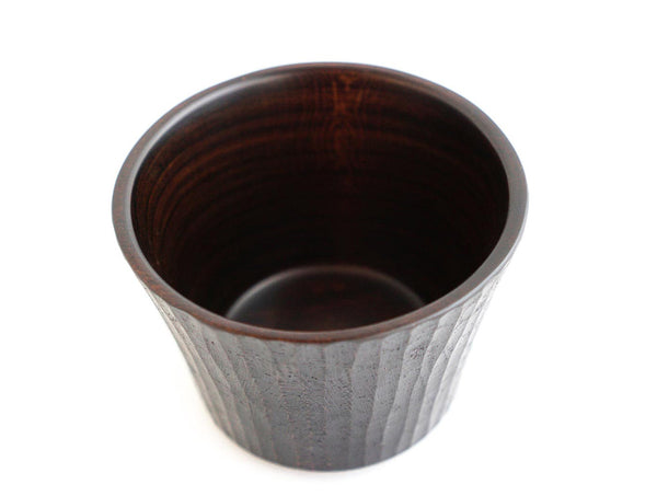 Carved Black Lacquer Cup