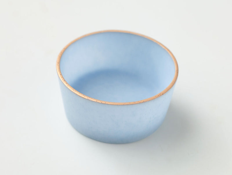 Short Glass Cup Blue